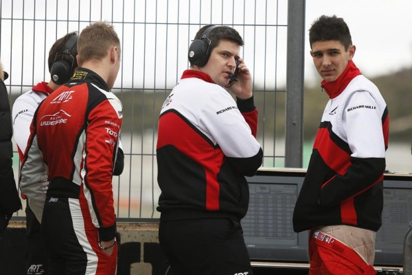 GP2 2015 - Test Circuit VALENCIA - Esteban OCON et Marvin KIRCHHOFER duTeam ART GP
