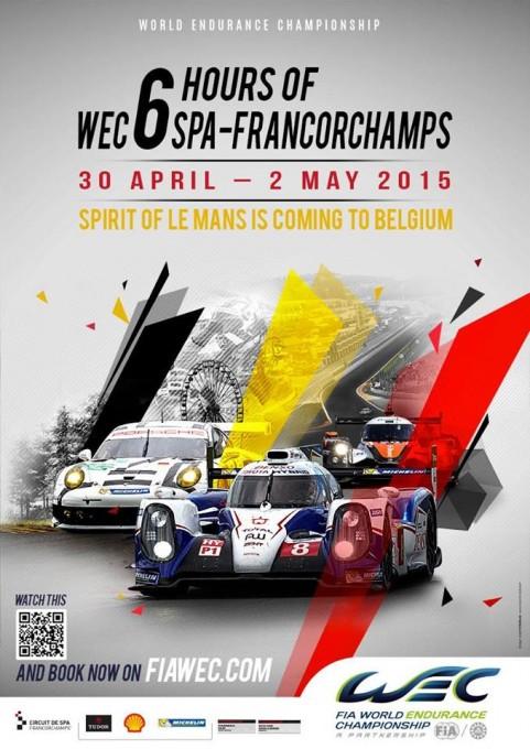 WEC 2015 SPA Affiche