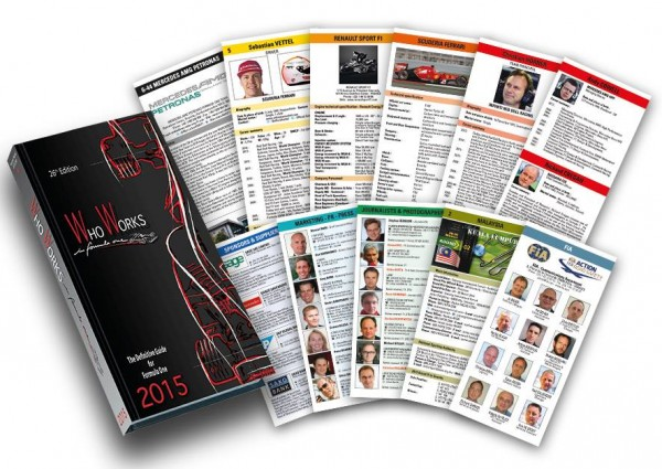 WHO WORKS IN FORMULA ONE 2015 - pages types