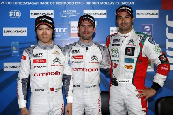 WTCC-2015-MARRAKECH-Les-trois-premliers-des-chronos-quaklificatifds-LOPEZ-MA-QING-HUA-et-BENNANI.