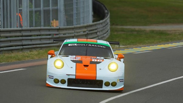 24-HEURES-DU-MANS-2015-TEST-PORSCHE GULF Racing UK N°86- Thierry COULIBALY.