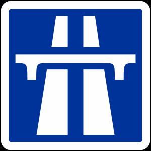 AUTOROUTE en FRANCE - Panneau entree