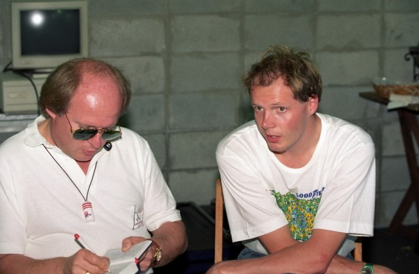 ERIC VAN DE POELE en interview en 1992 avec Gilles GAIGNAULT - Photo Manfred GIET