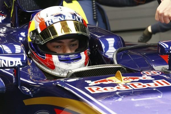 F1 2015 BARCELONE- Essais privés collectifs - 12 MAI Pierre GASLY au volant de la TORO ROSSO RENAULT.