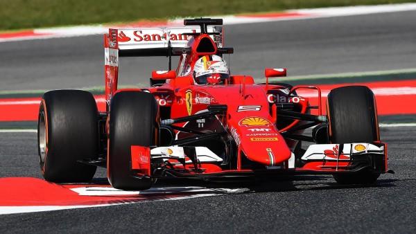 F1 2015 BARCELONE FERRARI de Seb VETTEL