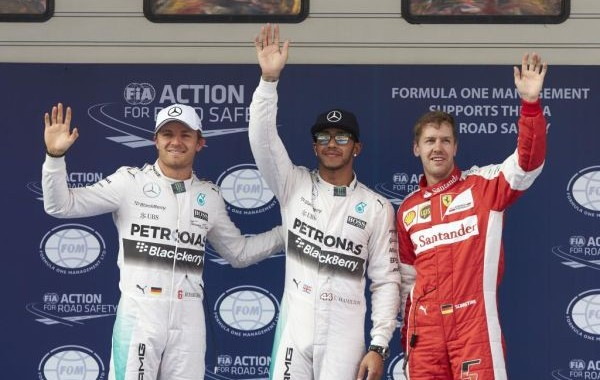 F1-2015- barcelone 9 MAI Les-trois--des-Qualifications-HAMILTON-ROSBERG-VETTEL
