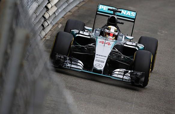 F1 2015 MONACO La MERCEDES de LEWIS HAMILTON.