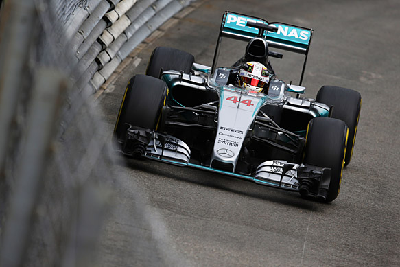 Monte Carlo, Monaco. Thursday 21 May 2015. Lewis Hamilton, Mercedes F1 W06 Hybrid. World Copyright: Steven Tee/LAT Photographic. ref: Digital Image _X0W8772
