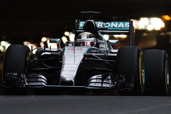 F1 2015 MONACO La MERCEDES de LEWIS HAMILTON.j