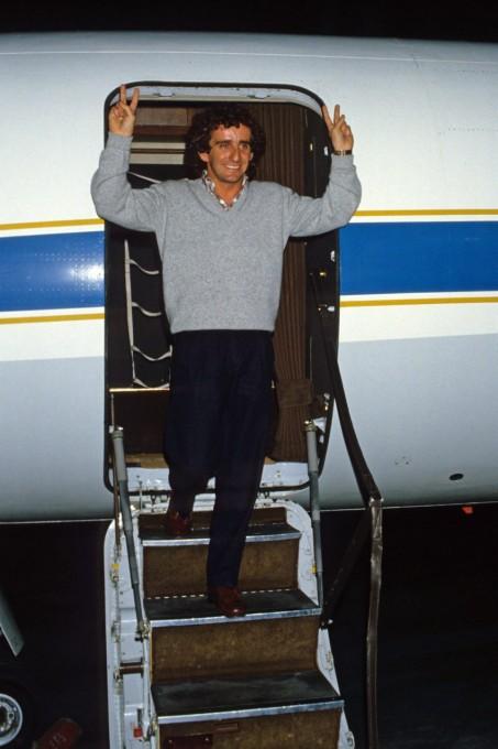 PROST-CHAMPION-DU-MONDE Le dimanche 6 octobre 1985 Photo Bernard BAKALIAN