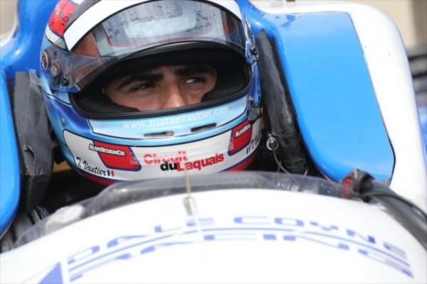 INDYCAR 2015 TRISTAN VAUTIER va faire une pige pour qualifier la monoplace N°19 du Team DALE COYNE du pilote JAMES DAVISON