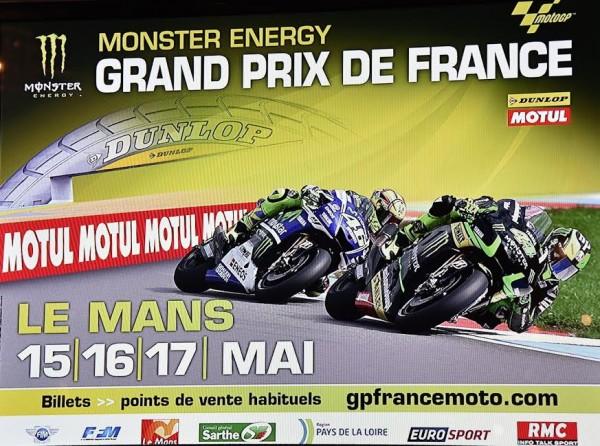 MOTO GP 2015 FRANCE - Affiche