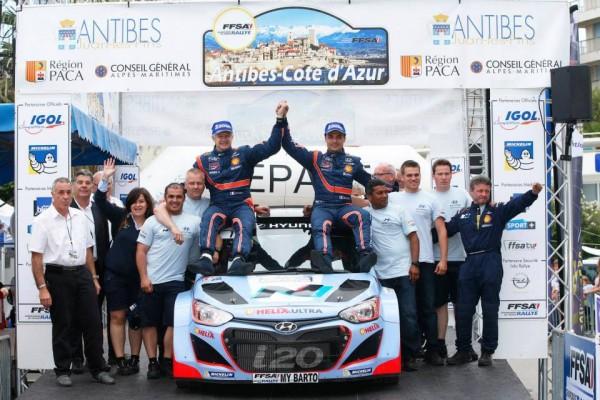 RALLYE-ANTIBES-2014-la-HYUNDAI-i20-WRC-de-Bryan-BOUFFIER-victorieuse.