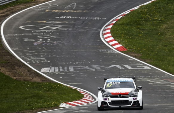 37 LOPEZ Jose Maria (arg) Citroen C Elysee  team Citroen racing action during the 2015 FIA WTCC World Touring Car Nurburgring race presentation to the press at Nurburg, from April 27th  to 28th 2015. Photo Florent Gooden / DPPI.