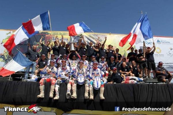 L'ÉQUIPE DE FRANCE D'ENDURO CHAMPIONNE DU MONDE 2014 ET L'ANCIEN LOGO