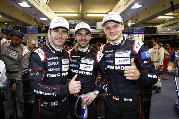 24 HEURES DU MANS 2015 - Equipage de la PORSCHE 919 N° 18 Romain DUMAS-NEEL JANI et Marc LIEB
