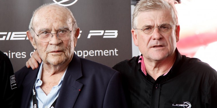 24 HEURES DU MANS 2015 - Présentation de la nouvelle LIGIER JSP3 le 11 juin - GUY LIGIER et Jacques NICOLET- Photo Thierry COULIBALY.