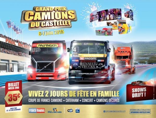 CAMION 2015  -GP DU CASTELLET - Affiche