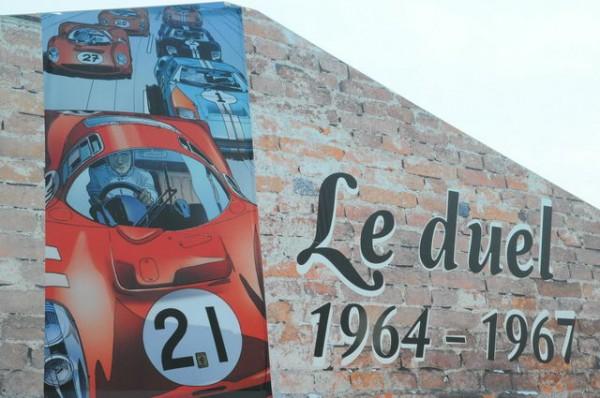 24 HEURES DU MANS 2015   Expositionb DUEL FORD FERRARI des années 60  Photo Patrick MARTINOLI