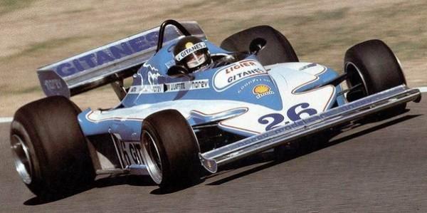 F1 1977 GP de SUEDE - Jacques LAFFITE victorieux du GP de SUEDE avec la LIGIER JS 7.