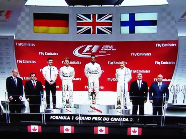 Le podium du GP du CANADA 2015  à MONTREAL le dimanche 7 juin