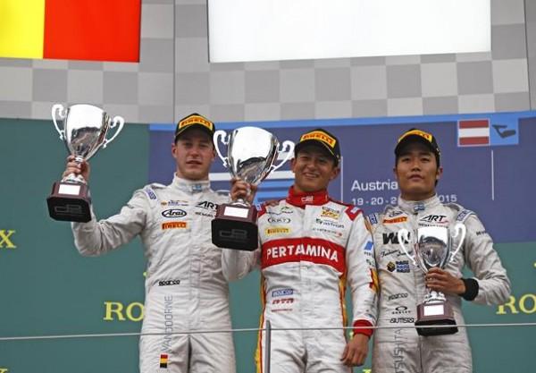 GP2-RED-BULL-RING-Le-podium-de-la-seconde-coutrse-zavec-RIO-HARYANTO-victorireux-devzant-SRIFFEL-VZANDOORENE