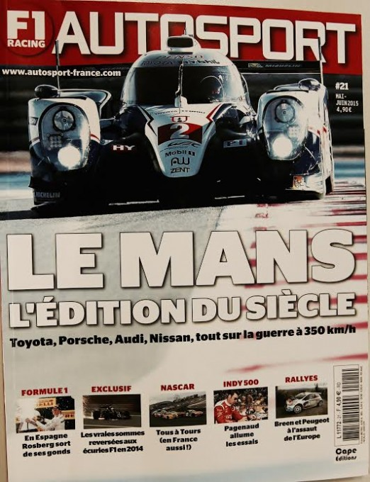 MAGAZINE AUTOSPORT FRANCE Juin 2015