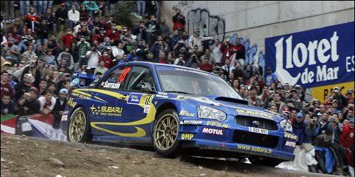 WRC-2004-Rallye-de-CATALOGNE-La-SUBARU-IMPREZA-de-STEPHANE-SARRAZIN-4éme-du-général