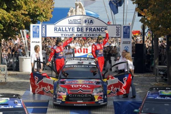 WRC-2008-TOUR-DE-CORSE-1ers-LOEB-ELENA-Team-CITROEN