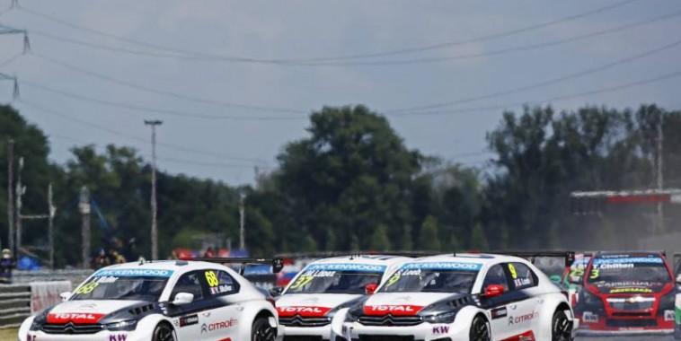 WTCC-2015-SLOVAKIA-Chaud-chaud-bouillant-devant-entre-les-pilotes-CITROEN