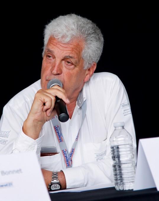 YVES-MORIZOT-le-fondateur-de-STAND-21-Présentation-LIGIER-JSP3-24-Heures-du-MANS-2015-le-11-juin-Photo-Thierry-COULIBALY