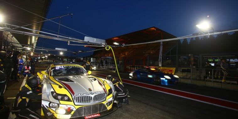 24 HEURES DE SPA 2015 - La BMW MARC VDS lors de la session nocturne jeudi 23 juillet Photo SRO VISION SPORT AGENCY