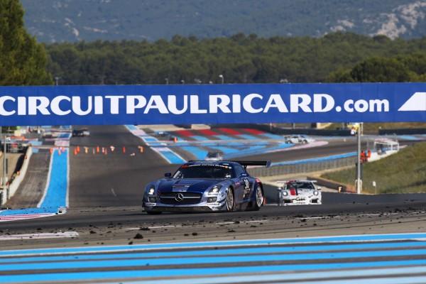 24 HEURES DU PAUL RICARD 2015 - LA MERCEDES SLS AMG N°30 di TEAM RAM Racing qui remporte la course ce 12 juillet