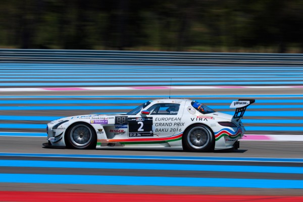 24 HEURES PAUL RICARD 2015 La MERCEDES SLS AMG classee seconde