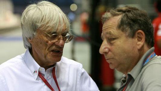 Bernie ECCLESTONE et Jean TODT photo Bernard BAKALIAN