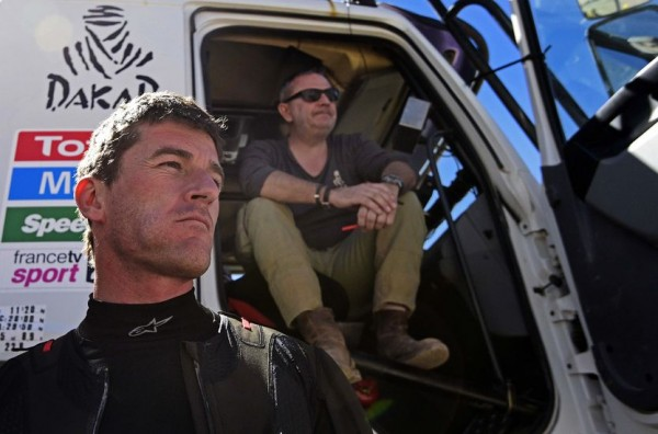 DAKAR-2016-MARC-COMA-rejoint l'organisatiopHOTO AFP PHOTO / FRANCK FIFE