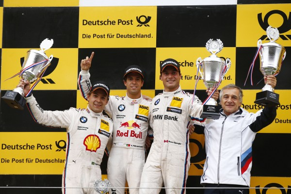 DTM 2015 ZANDVOORT Seconde course Podium avec le vainqueur Antonio Felix da COSTA -FARFUS et SPENGLER