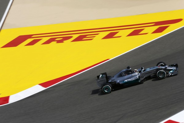 2014 Formula One Bahrain Grand Prix,  Bahrain International Circuit, Sakhir, Bahrain, 3rd - 6th  April 2014, Lewis Hamilton, Mercedes W05, Action,  World Copyright: © Andrew Hone Photographer 2014. Ref:  _ONZ6915