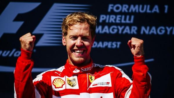 F1 2015 BUDAPEST victoire de Sebastian VETTEL et FERRARI.