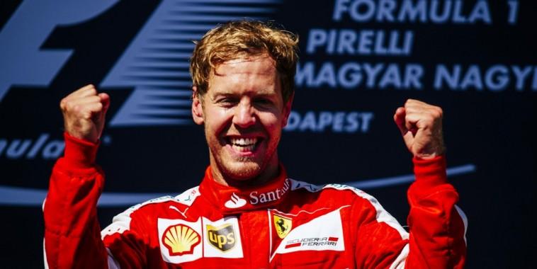 F1 2015 BUDAPEST   victoire de Sebastian VETTEL et FERRARI