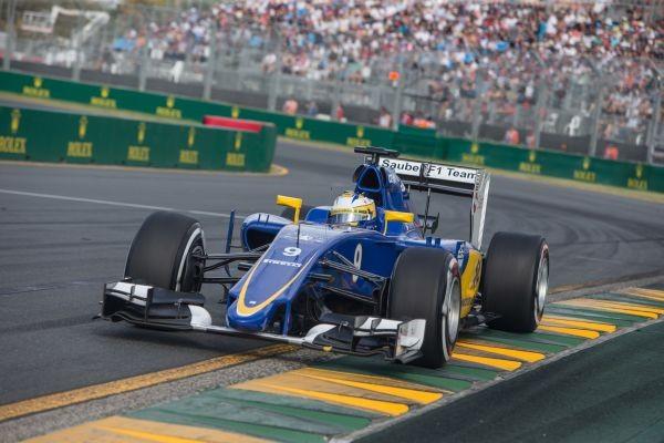 F1 2015 MELBOURNE la SAUBER FERRARI de MARCUS ERICCSON.