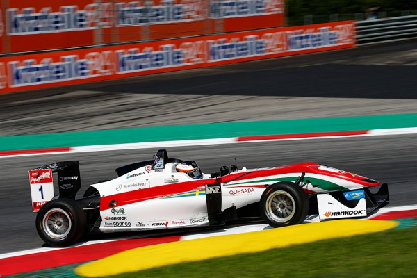 F3 2015  RED BULL RING  FELIX ROSENQVIST DALLARA MERCEDES PREMA POWERTEAM