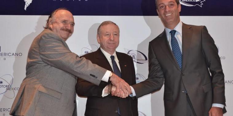 FIA-2015-CONGRES AMEXICO- Jean-Todt-José-Abed-et-Carlos-Slim-Domit