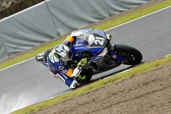 MOTO 2015 8 HEURES DE SUZUKA La Yamaha Factory Racing Team pilotée par le Japonais Katsuyuki Nakasuga associé aux deux pilotes MotoGP Pol Espargaro et Bradley Smith