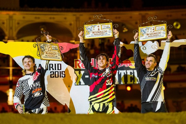 MOTO RED BULL X FIGHTERS 2015 MADRID - 1. Tom Pagès 2. Levi Sherwood 3. Clinton Moore