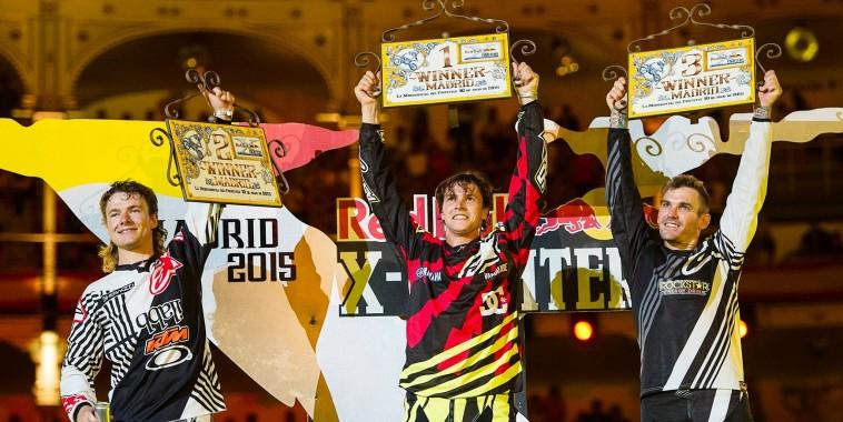MOTO RED BULL X FIGHTERS 2015 MADRID - 1. Tom Pagès 2. Levi Sherwood 3. Clinton Moore