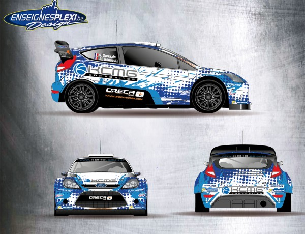 RALLYE 2015 Décoration de la FORD FIESTA RS de STEPHANE SARRAZIN.