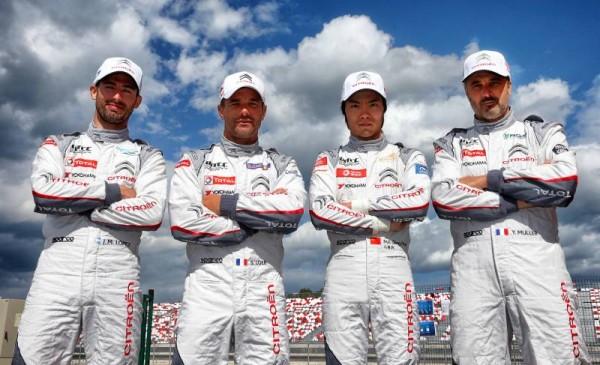 WTCC-2015-MOSCOU-Les-quatre-pilotes-du-Team-CITROEN.