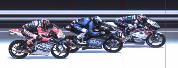 LA VRAIE BASTON ENTRE BASTIANINI, FENATI, ANTONELLI, PHOTO FINISH