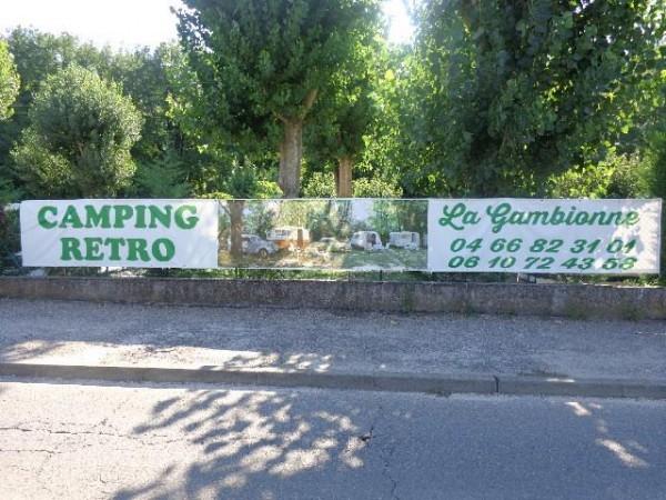 CAMPING-RETRO-LA-GAMBIONNE à GOUDARGUES dans le GARD  entre BARJAC et BAGNOLS/ SEZE